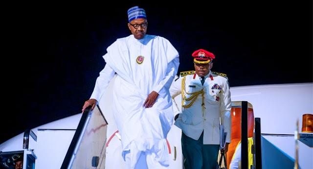 President Muhammadu Buhari Arrives Egypt for ASWAN Forum
