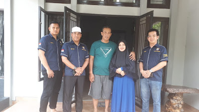 Wakapolresta Pekanbaru bersama Tim Jum'at Barokah Kunjungi Kediamaman Aiptu Subaggio