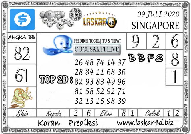Prediksi Togel SINGAPORE LASKAR4D 09 JULI 2020