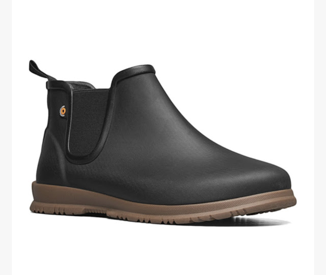 bog low-top black rain boot for women