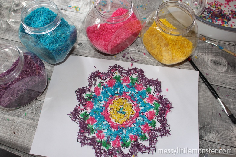 How to make Rangoli patterns