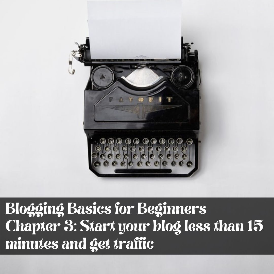 Chapter 3: Start your blog less than 15 minutes and get traffic  - Prosper Affiliate Marketing