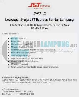 Info Lowongan Kerja di J&T Express Bandar Lampung Terbaru Agustus 2016