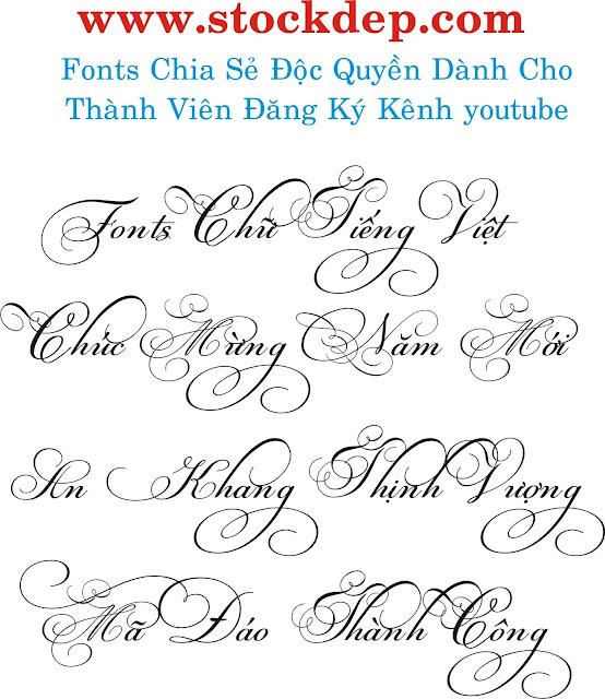 Fonts Chữ Đẹp Thiết Kế Độc Quyền.
