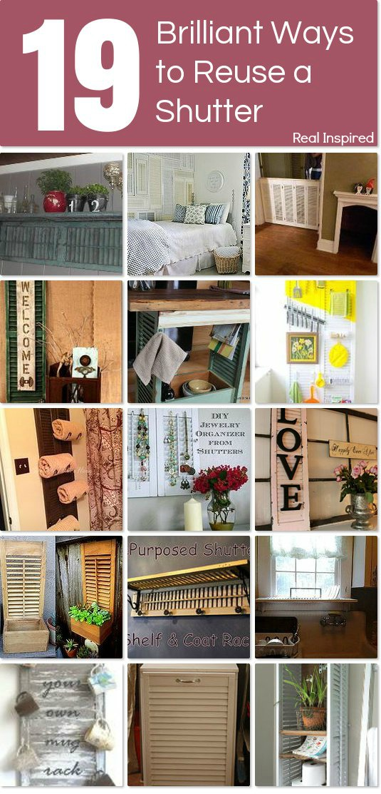 19 Ideas for Reusing Old Shutters