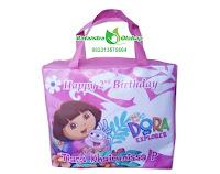 tas ultah dora, tas ultah anak murah, goodie bag ultah, goody bag, tas souvenir ultah dora, tas ulang tahun anak