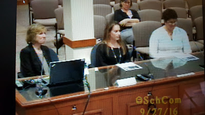 screen grab of the presentation on Lifelong Learning and the high school experience to the School Committee on Tuesday