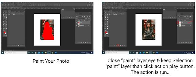 Hướng dẫn sử dụng Action Neon Glowing Effect Photoshop