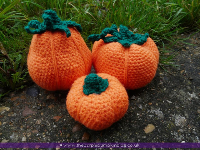 #Amigurumi #Crochet Pumpkins {Crafty October} at The Purple Pumpkin Blog