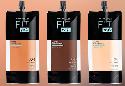 Maybelline  Fit Me Matte + Poreless Foundation Now In A Pouch