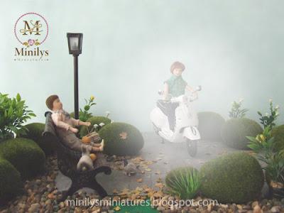 """""""minilys miniatures"""" """"garden"""" """"amigo de las estrellas"""" 1:12 moto"""