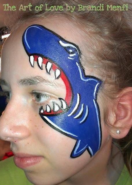 maquillaje infantil tiburón