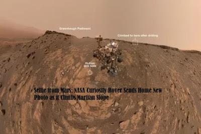 Selfie from Mars NASA Curiosity Rover Sends Home New Photo