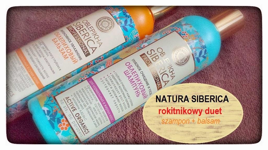 Natura Siberica - rokitnikowy duet - szampon + balsam