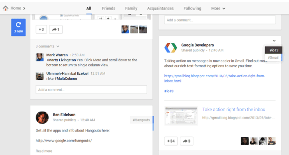 Google Operating System: New Google+ and Google Hangouts
