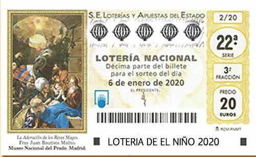 Lotería del Niño, 6 de enero de 2020 ¡Premios!