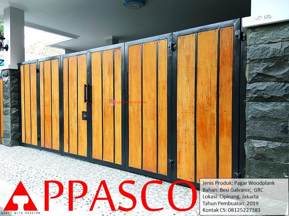 Pagar Klasik Woodplank GRC di Cipinang