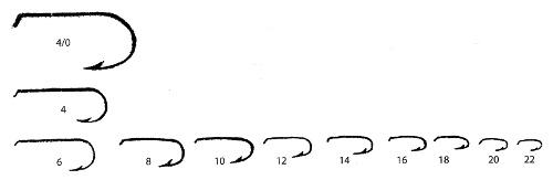 Hook Size Comparison Chart