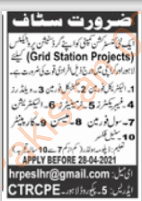 private jobs in lahore for matric