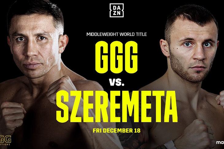 Gennadiy Golovkin vs Kamil Szeremeta Is Set For December