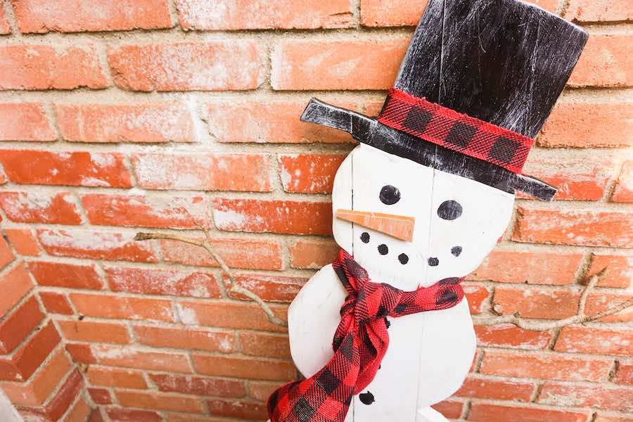 DIY Wood Snowman by Happiest Camper