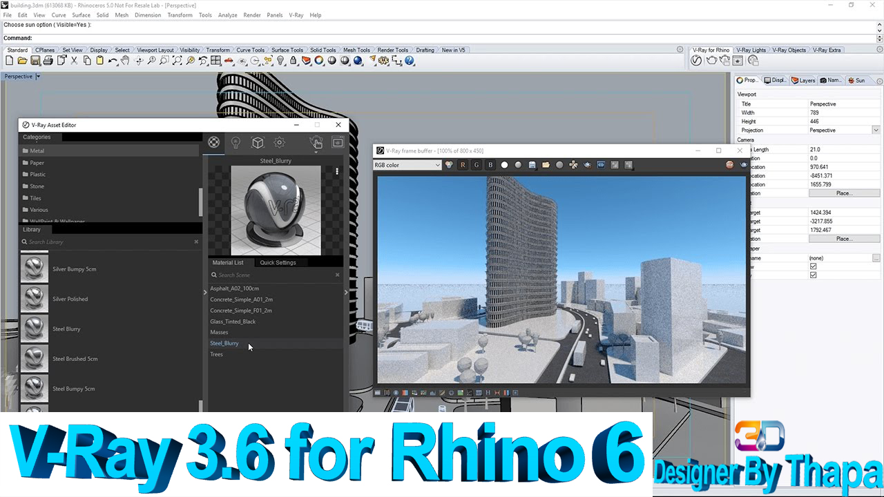 V-Ray 3 6 for Rhino 6 - Download Softwares, Photoshop
