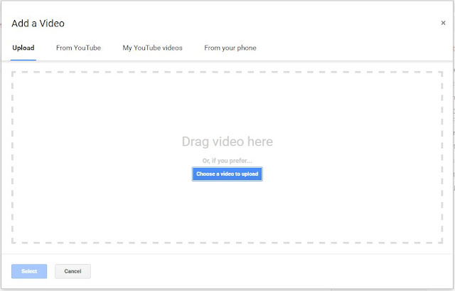 How to upload video in blogger posts