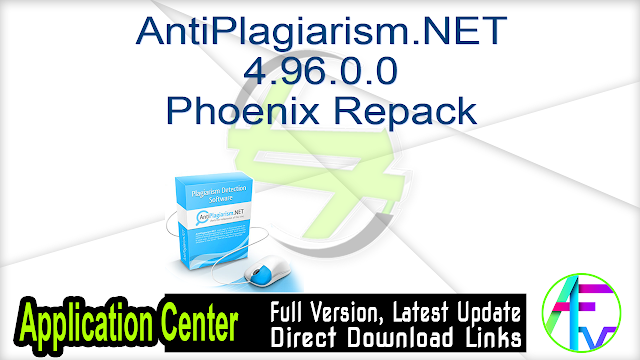 AntiPlagiarism.NET 4.96.0.0 Phoenix repack