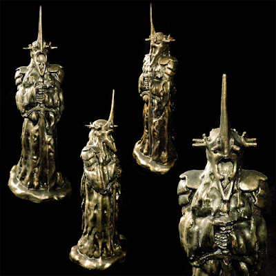 Witch King of Angmar 3D Printed Model in Blackened Bronze