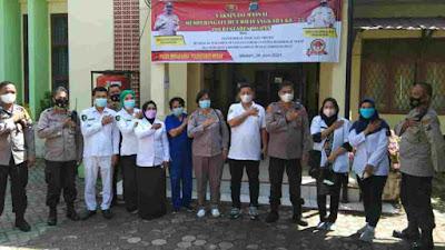 Polsek Medan Area Adakan Vaksinasi Massal Sambut HUT Bhayangkara Ke-75 Dan Cegah Covid