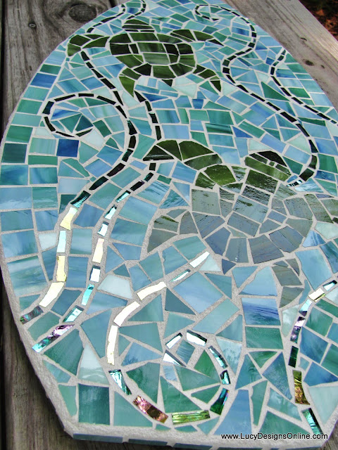mosaic surfboard sea turtle