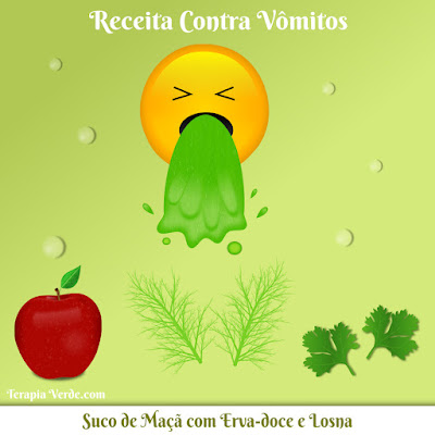 Receita Contra Vômitos: Suco de Maçã com Erva-doce e Losna