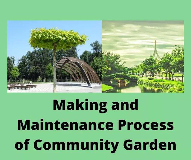Community garden maintenance