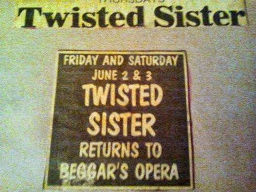 Twisted Sister at beggar's Opera in Queens, New York