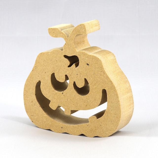 Handmade Wood Halloween Jack-O-Lantern Pumpkin Cutout
