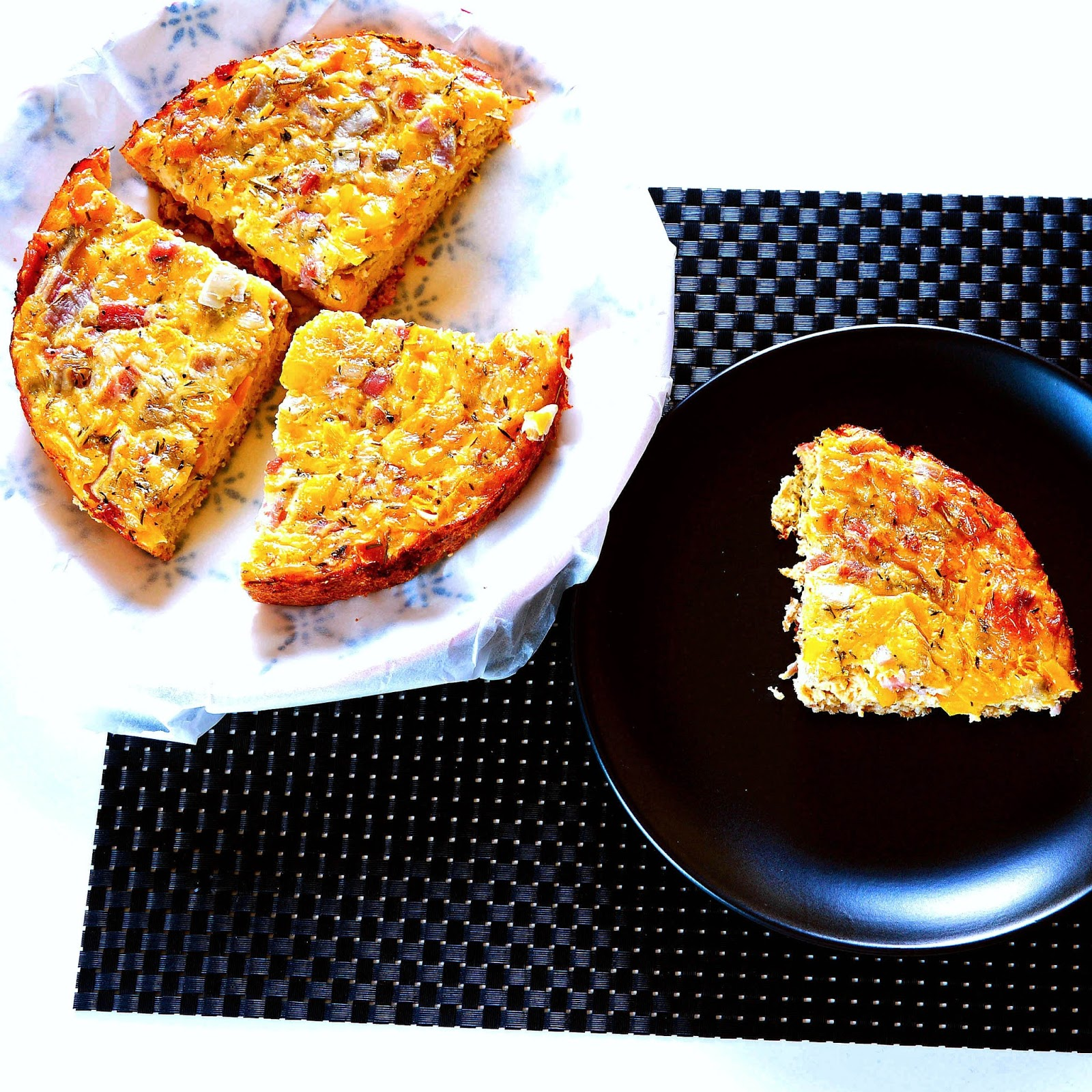 Quiche minute sans pâte:Rapid,easy Quiche
