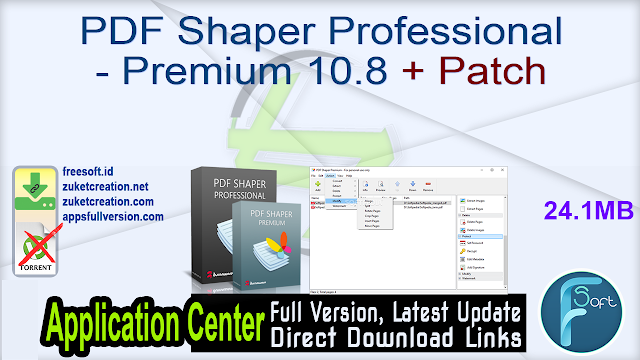 PDF Shaper Professional – Premium 10.8 + Patch