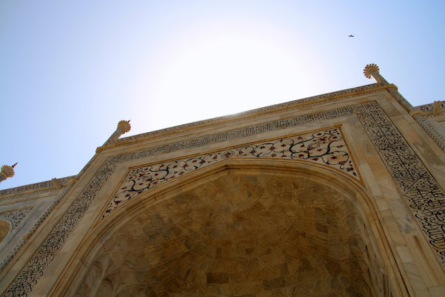 The workmanship on the the Taj Mahal is amazing.