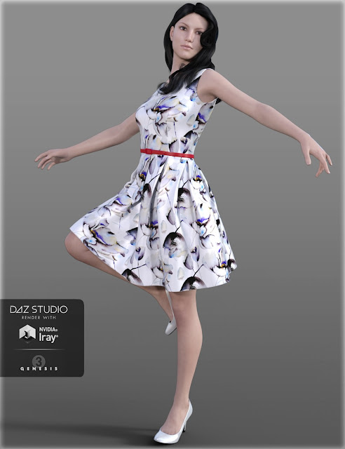 HC Fit  Flare Dress for Genesis 3 Female