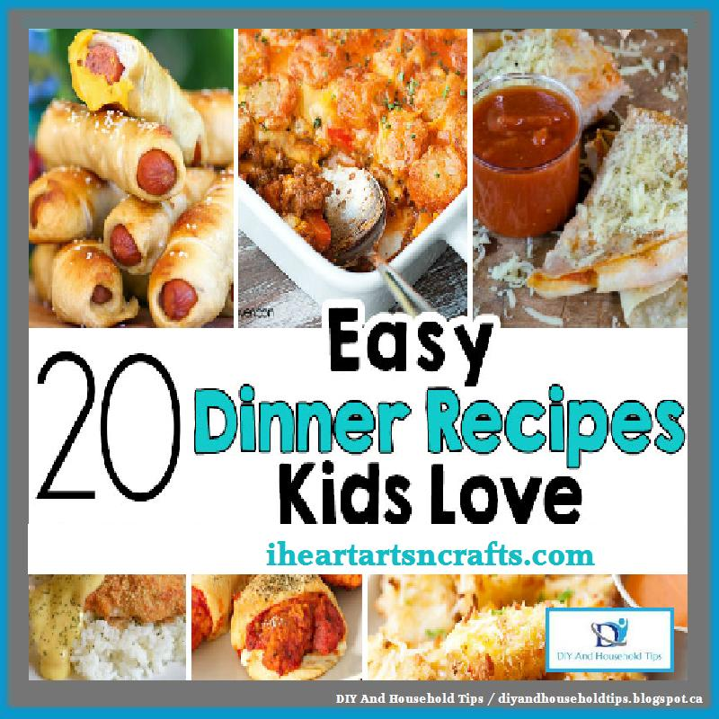 Easy Recipes Kids LOVE! What's for dinner at your house? Sometimes coming up with a plan, have the time to prepare dinner, or making something that kids will actually eat is challenging.