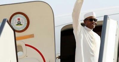 president-buhari-on-a-plane