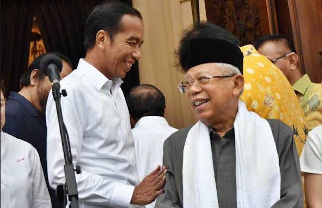 Bicara Soal Kabinet, Ma'ruf Amin Pasrahkan ke Jokowi