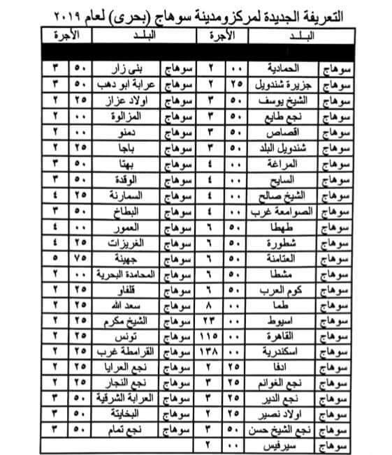 ننشر التعريفه الجديده للمواصلات داخل وبين المدن المصرية بعد زياده اسعار الوقود بجميع المحافظات FB_IMG_1562332407061