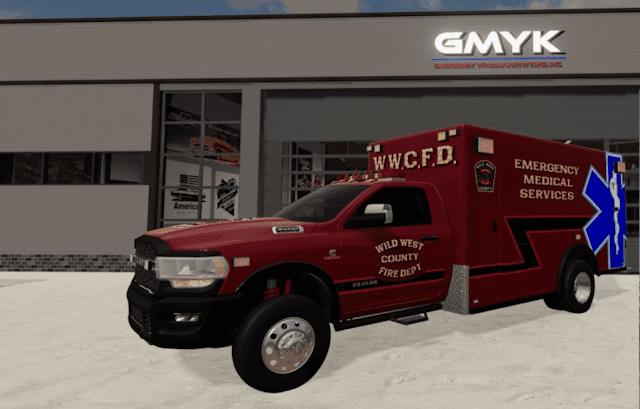 FS19 Dodge Ram 3500 Ambulance v1.0