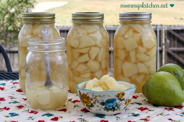 How to can Pear in a Light Syrup