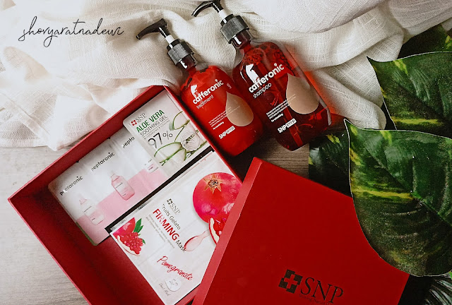 Review  SNP Prep Cafferonic Shampoo and Treatment