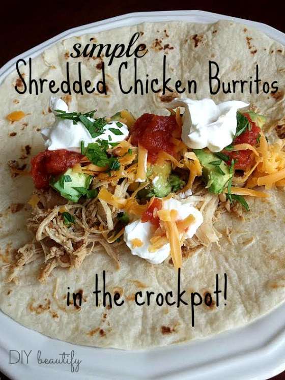 shredded chicken burritos recipe