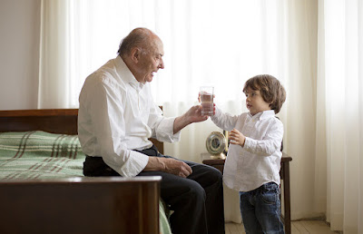 to be a good model to your grandson by drinking water
