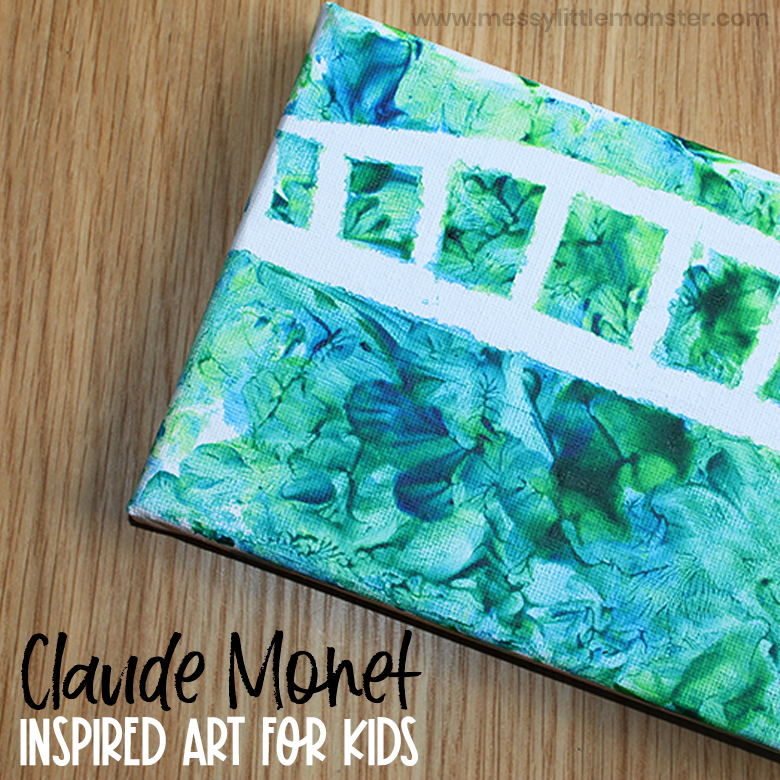 Claude Monet Inspired Art for Kids
