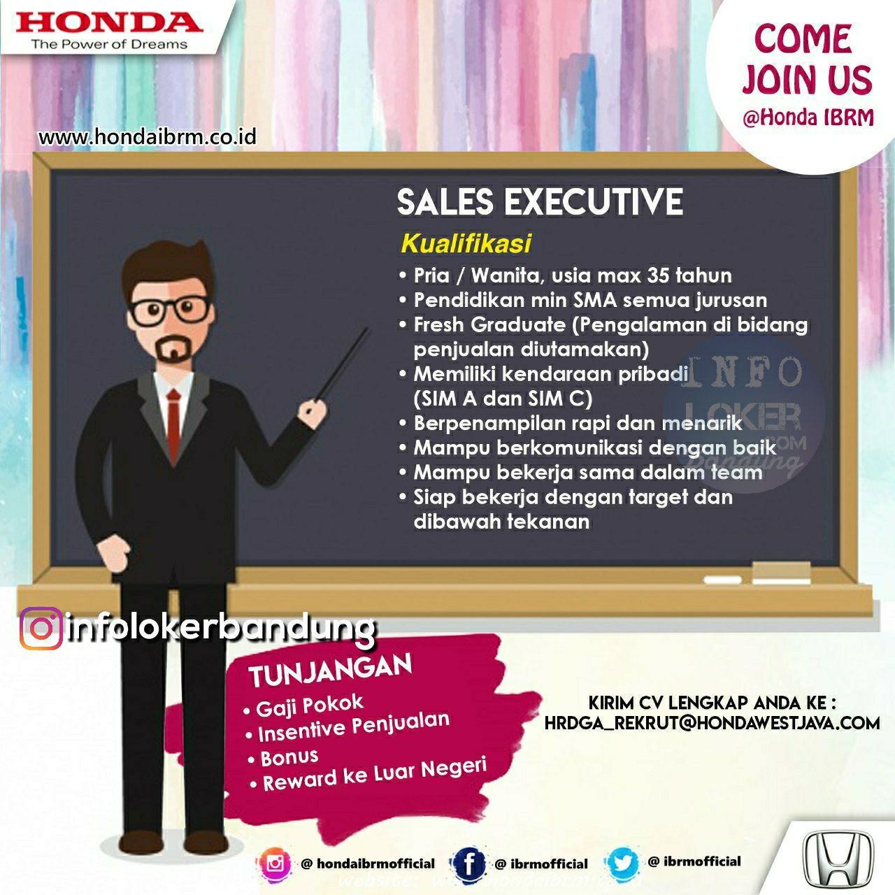 Lowongan Kerja Honda IBRM Bandung September 2018